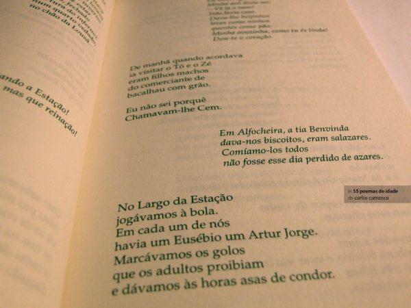 Livro 55 poemas de idade de Carlos Carranca